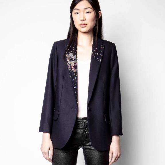 Zadig & Voltaire Navy Suit Blazer