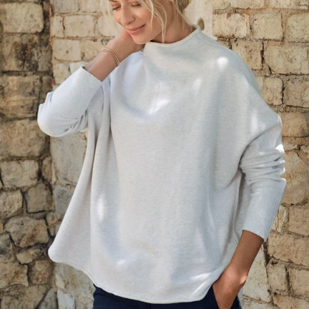 LONG SLEEVE FUNNEL NECK CAPELET TEE LAB
