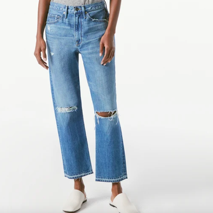FRAME Heritage high-rise ripped jeans Women's Boutique Denver
