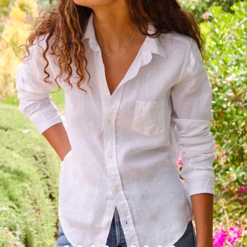 Linen Barry Frank and Eileen Button Shirt