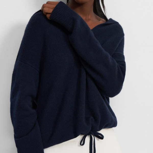 THEORY CASHMERE RELAXED HOODIE