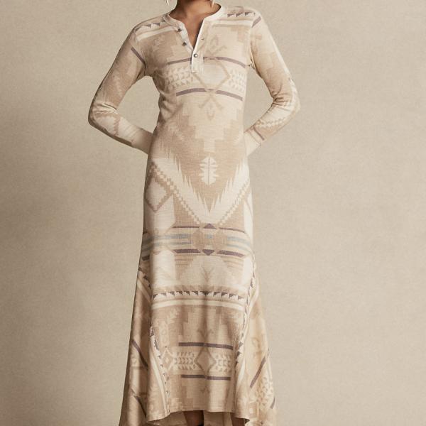 POLO RALPH LAUREN SOUTHWESTERN HENLEY MAXI DRESS