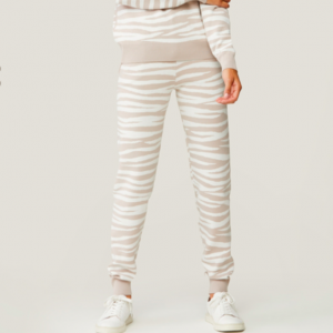 SOIA & KYO VERONA sustainable zebra print cuffed sweatpants