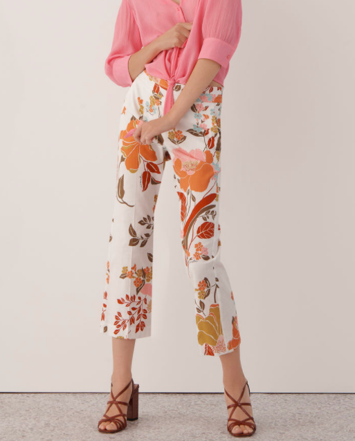 MARELLA BOW PATTERNED TROUSERS