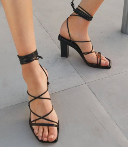 Black Strappy Heels Cherry Creek CO Clothing Boutique Shop