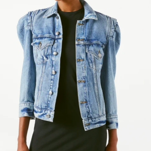 FRAME DENIM ROSETTE SLEEVE JACKET