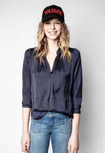 Zadig & Voltaire satin tunic clothing boutique in cherry creek co