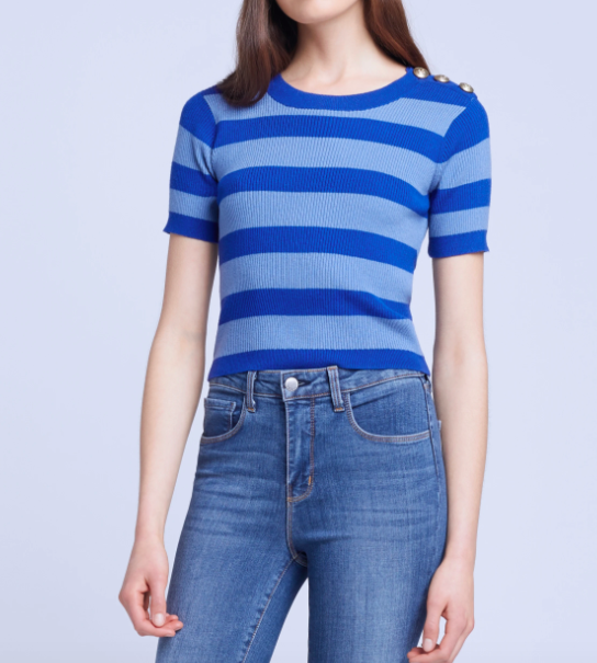 L'AGENCE DELPHINE SHORT SLEEVE SWEATER TOP