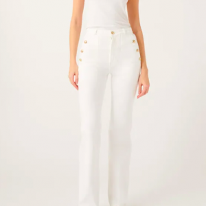 7FORALLMANKIND Welt and Button Flare Pant