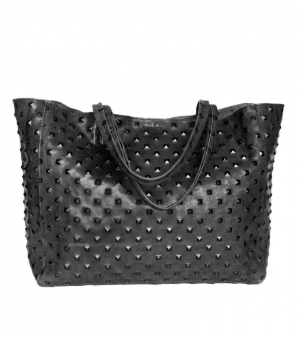 Streets Ahead Studded Leather Tote