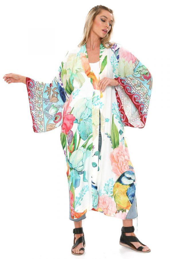 Aratta magical floral printed kimono