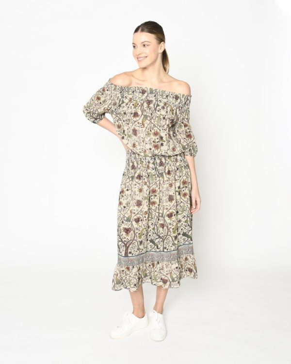 Nicole Miller Thai Jungle Midi Dress