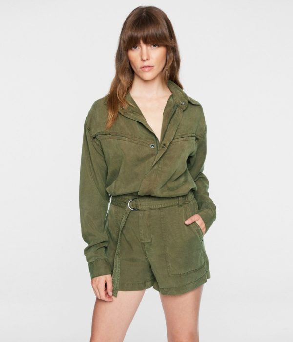 BELTED UTILITY JUMPSUIT ROMPER PAM AND GELA