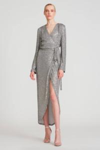 HALSTON FALAN SEQUIN COCKTAIL DRESS