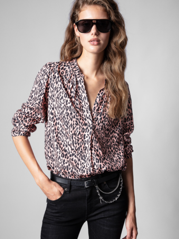 ZADIG AND VOLTAIRE TINK SQUELETON BLOUSE