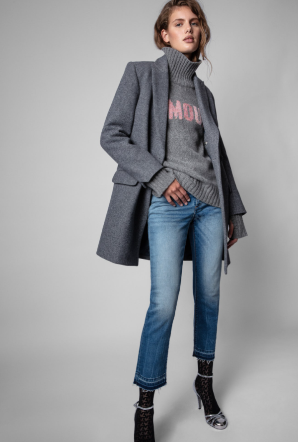 ZADIG AND VOLTAIRE ALMA AMOUR SWEATER