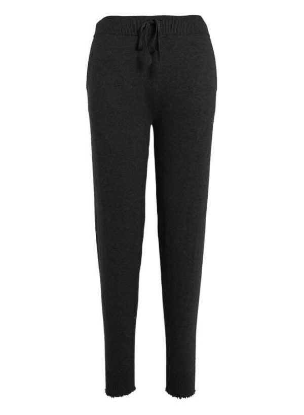 MINNIE ROSE COTTON/CASHMERE FRAYED JOGGER PANT