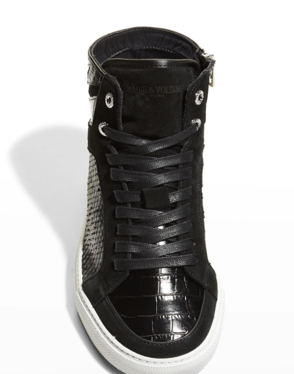 ZADIG AND VOLTAIRE HIGH FLASH SNEAKERS