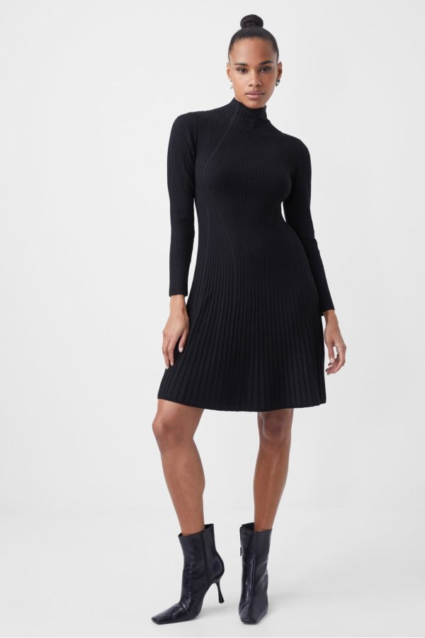 FRENCH CONNECTION MARI RIB KNITTED DRESS